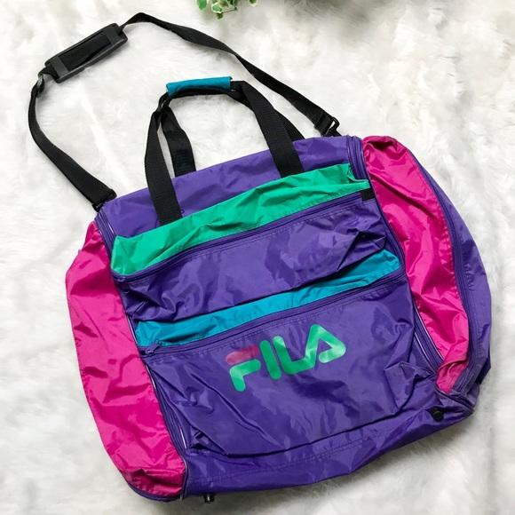 3a7432615de4 Fila Handbags - Vintage Retro 80s FILA Sports Travel Duffle Bag